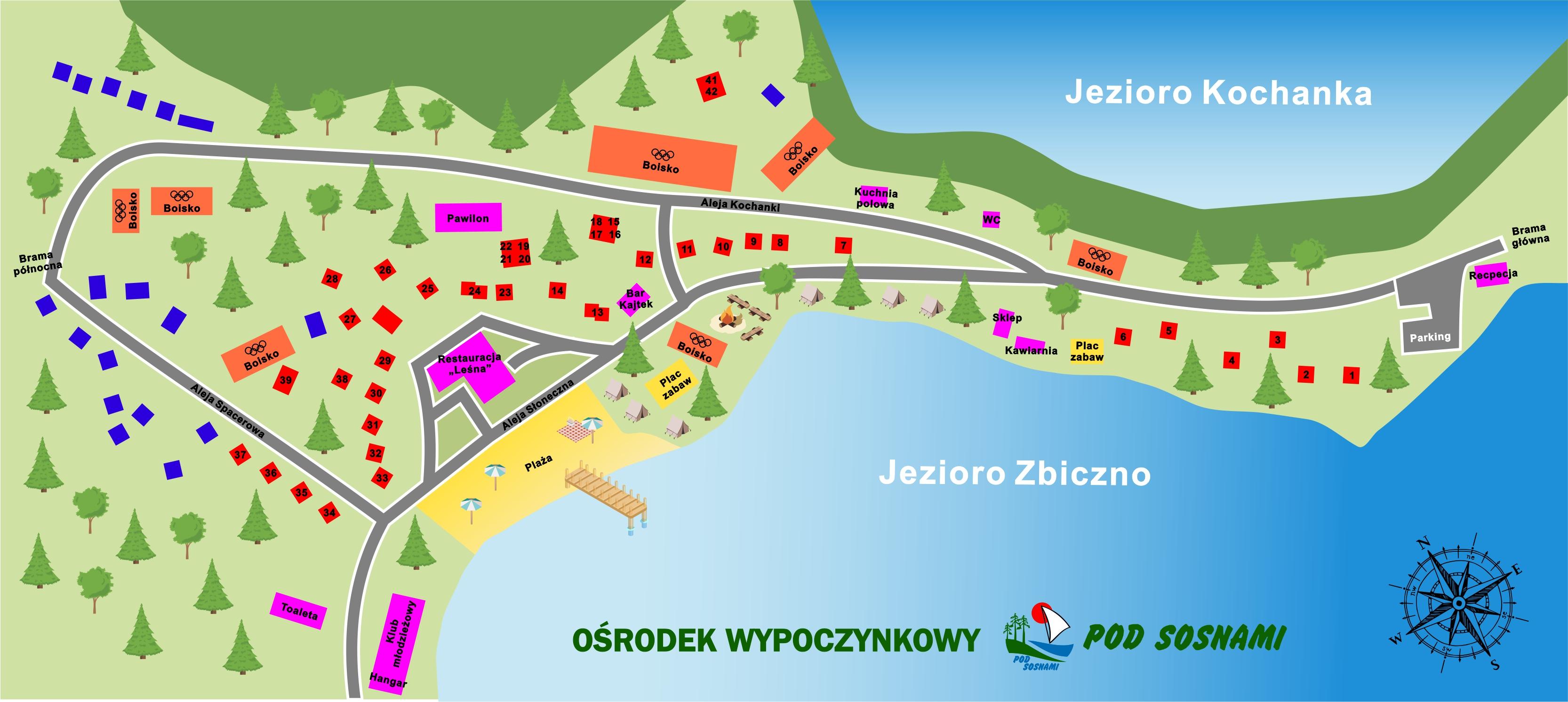 Mapa ośrodka Pod Sosnami